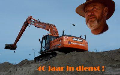 Alex v.d Hoek 40 jaar werkzaam bij Vermaire