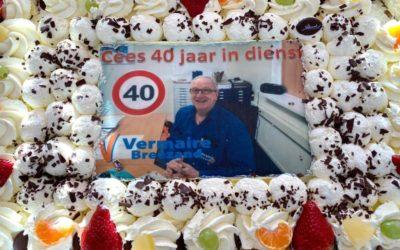 Cees Jansen 40 jaar in dienst.